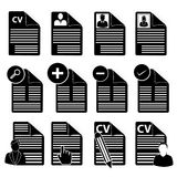 CV icons set Stock Photography