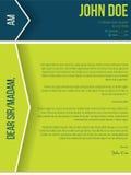 Cv moderno do resumo da carta de apresentação com setas e sombras ilustração royalty free