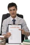 CV para o trabalho da aplicação imagens de stock