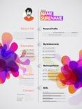 CV/plantilla creativos, coloridos del curriculum vitae ilustración del vector