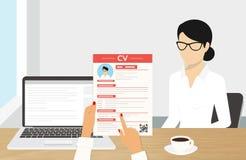CV presentation Stock Photo