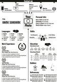CV program nauczania - vitae życiorysu szablon ilustracja wektor