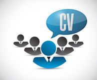 CV program - vitaefolket undertecknar begrepp vektor illustrationer