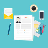 CV resume. Job interview concept. Royalty Free Stock Image