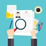 CV resume. Job interview concept. Stock Photo