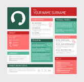 Cv / resume template dashboard Royalty Free Stock Photo