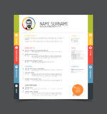 Cv / resume template Stock Images