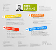 Cv / resume template Stock Photography