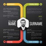 Cv / resume template Royalty Free Stock Photos