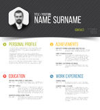 Cv / resume template Stock Photo
