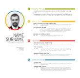 Cv / resume template Royalty Free Stock Images
