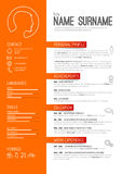 Cv / resume template vector illustration