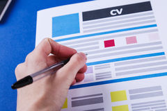 CV on the table Royalty Free Stock Photography