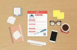 CV template presentation Royalty Free Stock Images