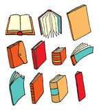 Colorful printed media / Book collection Royalty Free Stock Image