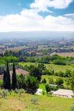 Cview города Assisi. Umbria. Италия стоковое фото