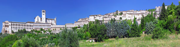 cview Италия umbria города assisi стоковое изображение rf