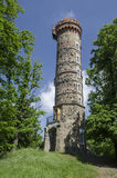 Cvilin watchtower above Krnov city, Czech republic Royalty Free Stock Images