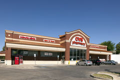 CVS药房商店在沃思堡, TX,美国 库存图片