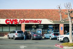 CVS / pharmacy building and logo stock images