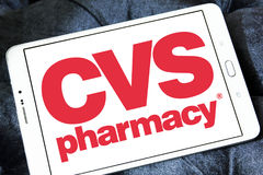 Cvs pharmacy logo. Logo of cvs pharmacy on samsung tablet Stock Photography