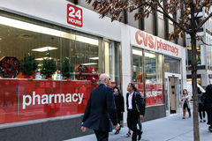 CVS pharmacy and people Stock Photo