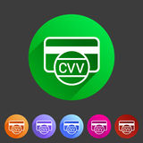 CVV card security code credit icon flat web sign symbol logo label Stock Photo
