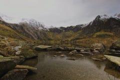 Cwm Idwal恶魔厨房Snowdonia北部威尔士 免版税库存照片