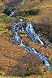 Cwm-y-llan, waterfall tumbling off Snowdon Royalty Free Stock Photo