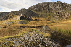 Cwmorthin quarry buildings Royalty Free Stock Photo