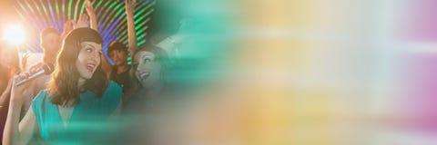 CWomen имея партию торжества потехи с переходом Стоковое фото RF