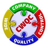 CWQC Проверка качества компании широкая Метка в форме головоломки бесплатная иллюстрация
