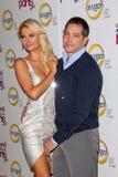 Cy Waits,Paris Hilton Stock Image