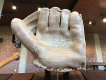 Cy Young Tribute, Sun Trust Park. A carved glove dedicated to Cy Young is displayed at Sun Trust Park in Atlanta, GA stock images
