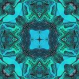 Cyaan abstract sier azuurblauw en groen beeld stock illustratie