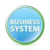 Cyaan blauwe ronde knoop van bedrijfssysteem de natuurlijke aqua royalty-vrije illustratie