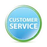 Cyaan blauwe ronde knoop van klantenservice de natuurlijke aqua royalty-vrije illustratie