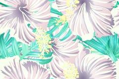 Cyaan exotisch patroon vector illustratie