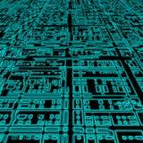 Cyaan futuristische abstracte achtergrond Vector Illustratie