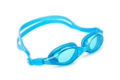 Cyaan zwemmende beschermende brillen royalty-vrije stock afbeeldingen