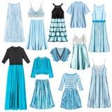 Cyan изолированные одежды Стоковое Изображение RF
