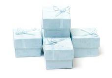 Cyan коробки подарка Стоковая Фотография