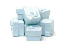 Cyan коробки подарка Стоковые Изображения