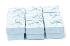 Cyan коробки подарка Стоковая Фотография RF