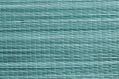 Cyan поверхность циновки соломы цвета Стоковое Изображение