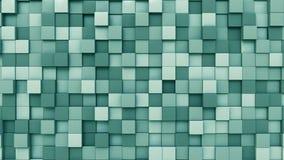Cyan предпосылка кубов, перевод 3D Стоковая Фотография RF