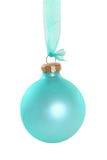 Cyan шарик рождества Стоковая Фотография RF