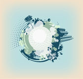 Cyan abstract background with blots. Cyan abstract background with many blots Royalty Free Stock Photo