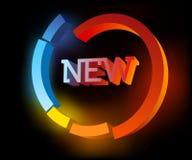 Cyan abstract  NEW symbol Stock Image