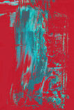Cyan abstract on red Stock Image